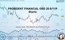 PROVIDENT FINANCIAL ORD 20 8/11P - Diario