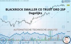 BLACKROCK SMALLER CO TRUST ORD 25P - Dagelijks