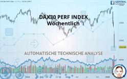 DAX30 PERF INDEX - Wöchentlich